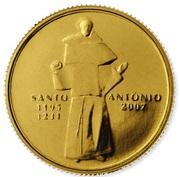 ¼ d'euro Saint-Antoine de Padoue – revers