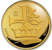 ¼ d'euro D. Dinis – revers