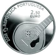 2,50 euros Fado (argent) – avers