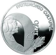 2,50 euros Fado (argent) – revers