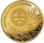 ¼ d'euro Vasco de Gama – avers