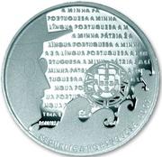 2,50 euros Langue portugaise (argent) – avers