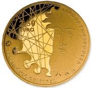 2,50 euros Langue portugaise (or) – revers