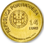 ¼ d'euro António Vieira – avers