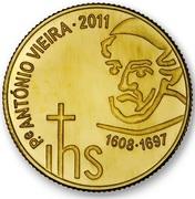 ¼ d'euro António Vieira – revers