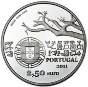 2,50 euros Capelo et Ivens (argent) – avers