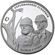 2,50 euros Capelo et Ivens (argent) – revers