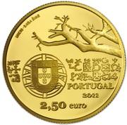 2,50 euros Capelo et Ivens (or) – avers