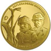 2,50 euros Capelo et Ivens (or) – revers
