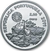 2,50 euros Paysage viticole de l'île du Pico (argent) – avers