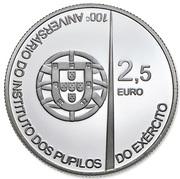 2,50 euros Académie militaire (argent) – avers