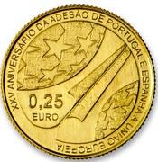 ¼ d'euro Adhésion à l'UE (25 ans) – revers