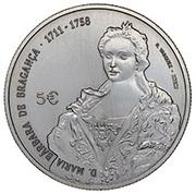 5 euros D. Maria Bárbara -  avers