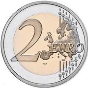 2 euros Police de sécurité publique (colorée) -  revers