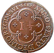 1½ real – Piérre prince regent – revers