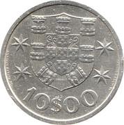 10 escudos -  revers