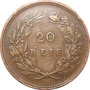 20 réis - Charles Ier -  revers