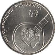 2,50 euros Fado (cupronickel) – avers