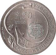2,50 euros Navire école Sagres (cupronickel) – avers