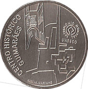 2,50 euros Centre historique de Guimarães (cupronickel) – revers