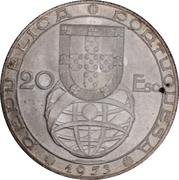 20 escudos Réforme financière – avers