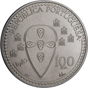 100 escudos Afonso Henriques -  avers