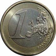 1 euro (2e carte) -  revers