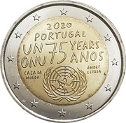 2 euros ONU -  avers