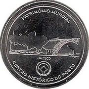 2,50 euros Centre historique de  Porto (cupronickel) – revers