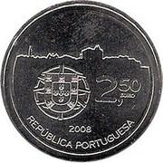 2,50 euros Centre historique de  Porto (cupronickel) – avers
