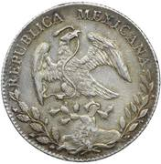 "1 Pataca (Mexique avec contremarque ""Christo Cross"") – revers"