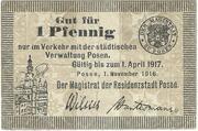 1 Pfennig (Posen) – avers