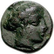 Bronze Æ10 (Potidaia) – avers
