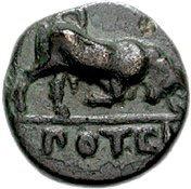 Bronze Æ10 (Potidaia) – revers