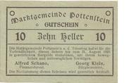 10 Heller (Pottenstein) – avers