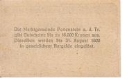 50 Heller (Pottenstein) – revers