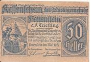 50 Heller (Pottenstein) – avers