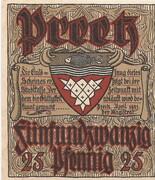 25 Pfennig (Preetz) – avers