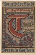 50 Pfennig (Preetz) – avers