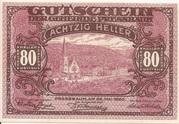80 Heller (Pressbaum) – avers