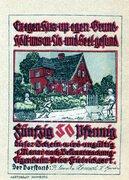 50 Pfennig (Pries-Friedrichsort; Baugenossenschaft Eigenheim) – avers