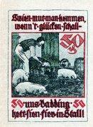 50 Pfennig (Pries-Friedrichsort; Baugenossenschaft Eigenheim) – revers