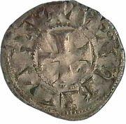 Denier - Mathilde de Hainaut (1316-1318) – avers