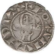 Denier à la Tête Casqué Classe A Bohemond III Majorité – avers