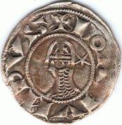 Denier à la Tête Casquée Classe C Bohemond III Majorité – avers