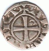 Denier à la Tête Casquée Classe F Bohemond III Majorité – revers