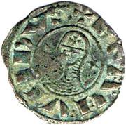Denier à la Tête Casquée Bohemond III Majorité – avers