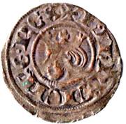 Obole - Charles Ier d'Anjou (avec tête couronnée) – avers