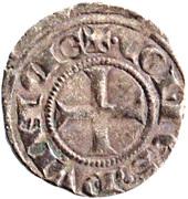 Obole - Charles Ier d'Anjou (avec tête couronnée) – revers