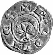 "Raymond VI - Denier raimondin ""neuf"" (à la croix longue) – avers"